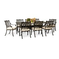9 Piece Rectangular Set with 8 Chairs - Montreal