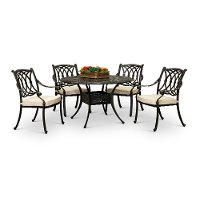5 Piece Patio Dining Set with 4 Armchairs - Montreal