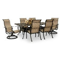 Traditional Metal 7 Piece Patio Table Set - Montreal