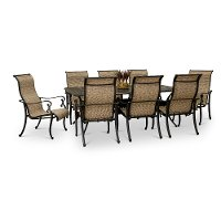 9 Piece Patio Dining Set with 8 sling chairs - Montreal