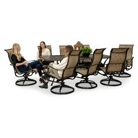 9 Piece Swivel Chair Patio Dining Set - Montreal