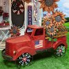 19 Inch Red Metal Antique Americana Truck