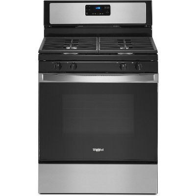 WFG515S0JS Whirlpool 30 Inch Gas Range with Four Burners - 5.0 cu. ft. Stainless Steel