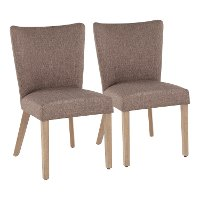 CH-ADISON-BNGY2 Contemporary Gray Upholstered Dining Room Chair (Set of 2) - Addison