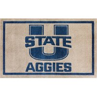 2 x 3 X-Small Utah State Pewter Gray and Blue Area Rug - Luxury Sports