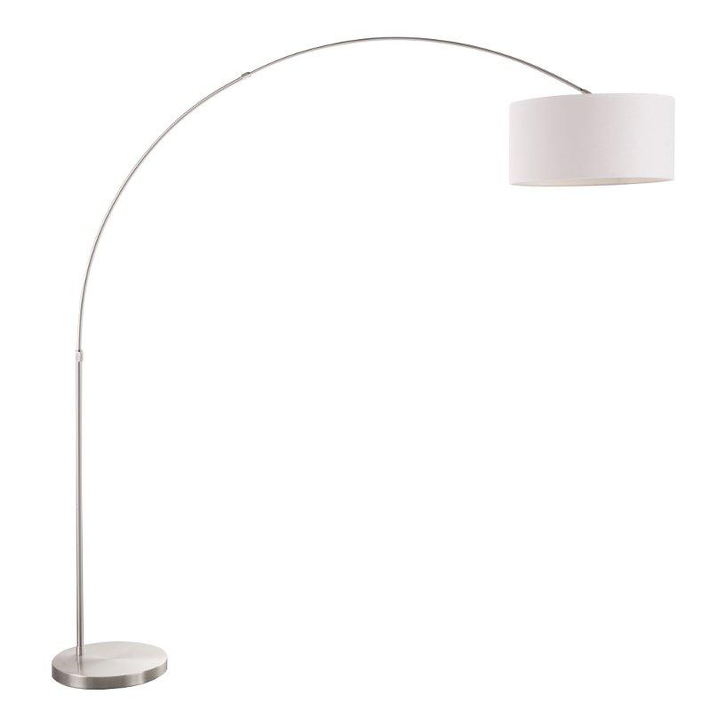 Satin Nickel Contemporary Floor Lamp