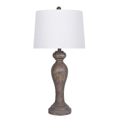 31 Inch Opal Gray Resin Table Lamp