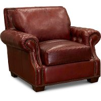 Contemporary Red Leather Chair - Marsala