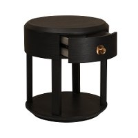 Modern Black Nightstand - Modern Eclectic