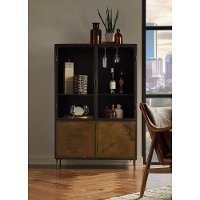 Contemporary Patina Metal Display Cabinet - Modern Eclectic