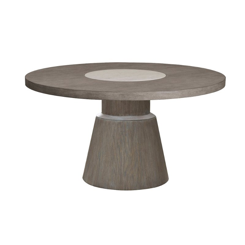 Gray And Taupe 54 Inch Round Dining, Round Gray Dining Table