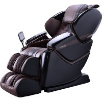 KIT Espresso Brown 2 Piece Massage Chair - Zero-Gravity