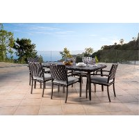 Portofino 7 Piece Patio Dining Set with Sunbrella Cushions - Espresso