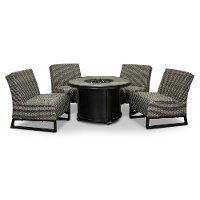 5 Piece Patio Round Fire Pit  - Del Mar