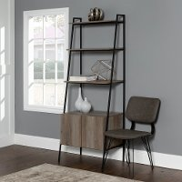 Weathered Gray 72 inch Gray Ladder Bookcase - Arlo