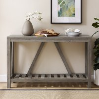 AF52AFTGW Rustic Gray Entryway Table - A-Frame