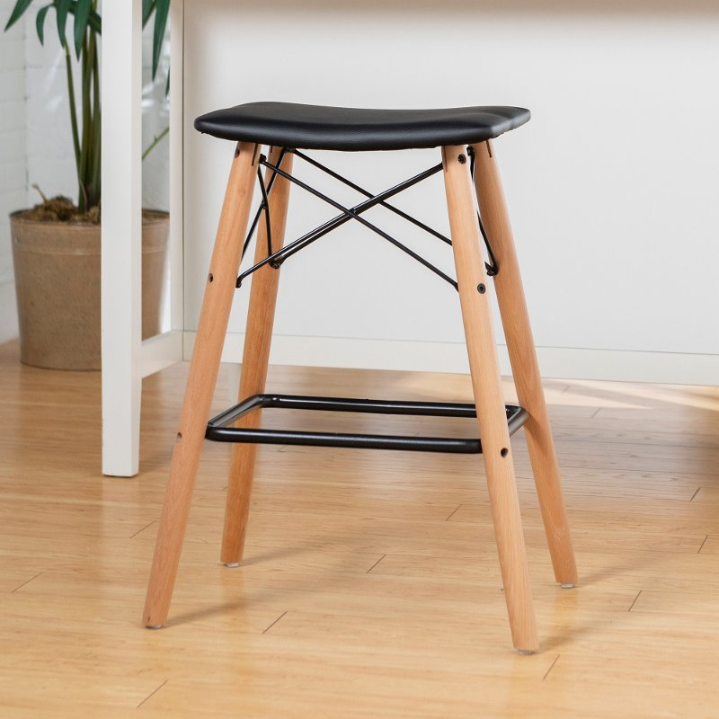 Peachy Mid Century Modern 26 Inch Black Counter Height Stool Pabps2019 Chair Design Images Pabps2019Com