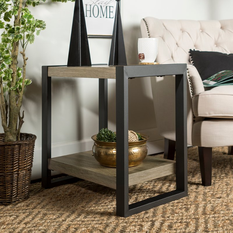 Driftwood Gray 24 Inch Side Table City Grove