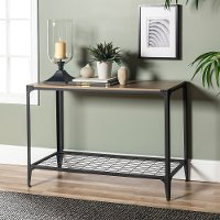 Brown 44 Inch Rustic Entry Table - Angle Iron