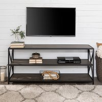 Industrial Gray 60 inch Bookcase - X-Frame