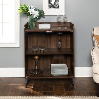 Dark Brown 36 Inch Bar Cabinet