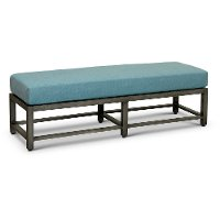 30000502S015/2BNCH Blue Lagoon 2 Seat Bench with Sunbrella Cushion - Anesis