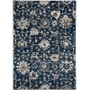 8 x 11 Large Transitional Navy Blue Rug - Century