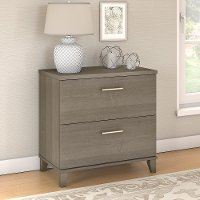Ash Gray Lateral File Cabinet - Somerset