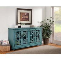 Glam Teal TV Stand - Jules