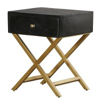 Black and Brass End Table - Modern Eclectic