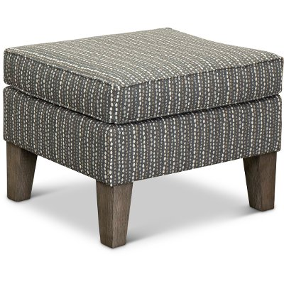 Flannel Taupe Ottoman - Willow