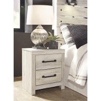 Rustic Whitewash Nightstand - Sunrise Park