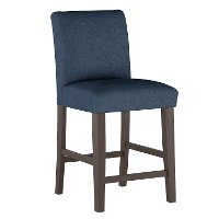 63-7ZMNV Navy Upholstered Counter Height Stool - Zuma
