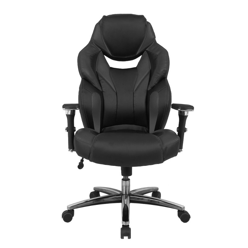 Black Big And Tall Executive Office Chair Rc Willey Furniture Store