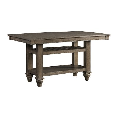 Light Brown Counter Height Dining Room Table - Balboa