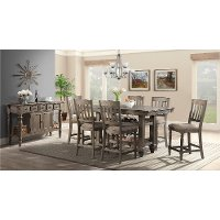 Light Brown 5 Piece Counter Height Dining Room Set - Balboa