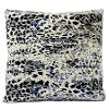 Black, Blue, Cream and Gray Midnight Moon Throw Pillow