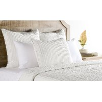 Off White Cloud Velvet King 3 Piece Bedding Collection - Bari