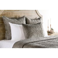 Silver Toned Brown Velvet Queen 3 Piece Bedding Collection - Bari