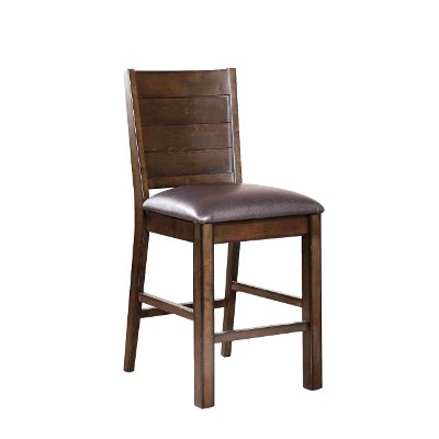 Espresso Upholstered 24 Inch Counter Height Stool - Madison