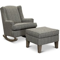 Flannel Taupe 2 Piece Rocker Runner with Ottoman - Willow
