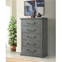 Coastal Country Gray Chest of Drawers - Beach House