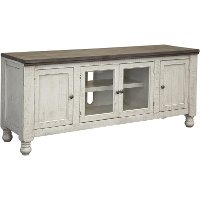 Antique White Country 68 Inch TV Stand - Stone