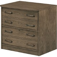 Industrial Oak 2 Drawer Lateral File - Eastwood