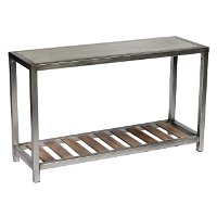 Modern Sofa Table with Faux Concrete Top - Blaine