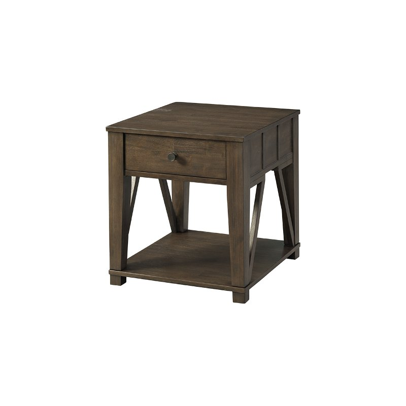 Coffee Brown Casual End Table