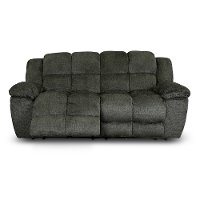 Platinum Gray Power Reclining Sofa - Elton