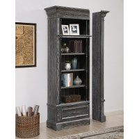 Rustic Smoke Gray Bookcase Extension