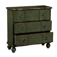 Classic Distressed Green Accent Chest - Modern Eclectic