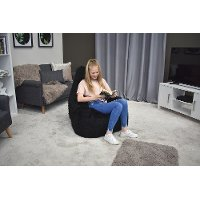Iron Cloud Black Fur Inflatable Chair - Big Mouth